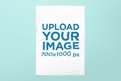 Mockup of an Urban Poster with Customizable Background 1761-el1