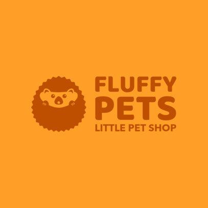 Pet Shop Logo Maker Featuring a Cute Hedgehog 1191i-2760