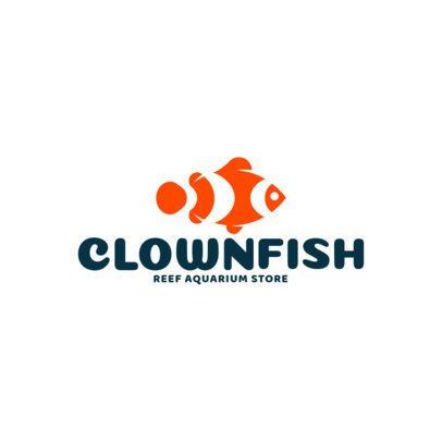 Reef Aquarium Store Featuring a Clownfish Icon 1147h-2760