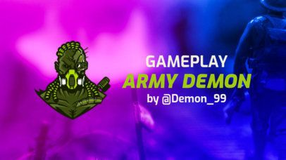 YouTube Banner Maker with a PUBG-Inspired Character and Bright Colors 1735p-2066