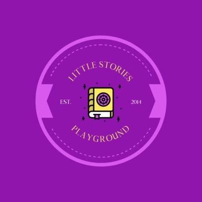 Playground Logo Design Template with a Book Graphic 318a-el