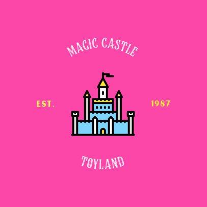Toy House Logo Maker with a Castle Graphic 318d-el