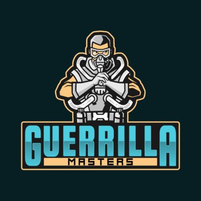 Apex Legends Inspired Logo Template with a Guerrilla Character 2791j