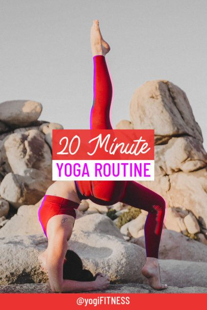 Pinterest Pin Template with a Yogi Making a Posture 2085f