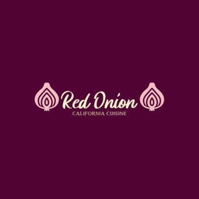 Restaurant Logo Maker with an Onion Clipart 286a-el1