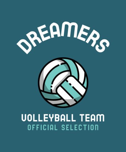 T-Shirt Design Template for a Volleyball Team 313-el1