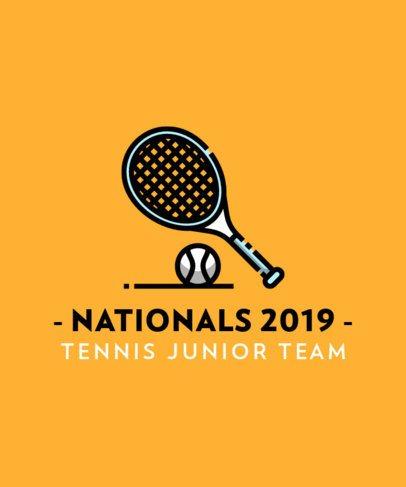 T-Shirt Design Maker for a Tennis Junior Team 313c-el1