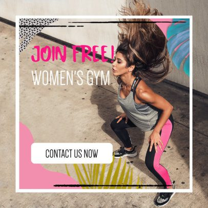 Ad Banner Template for a Women's Gym 269j 2086
