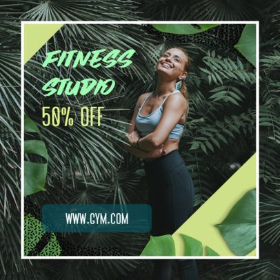 Fitness Ad Banner Maker with a Simple Frame 269k 2086