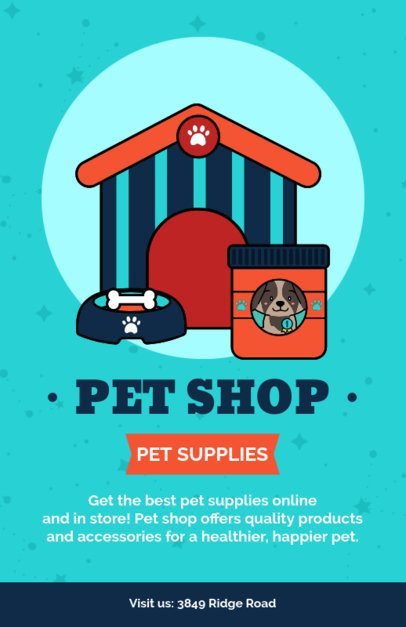 Pet Shop Online Flyer Maker with a Dog's House Graphic 396h-2123