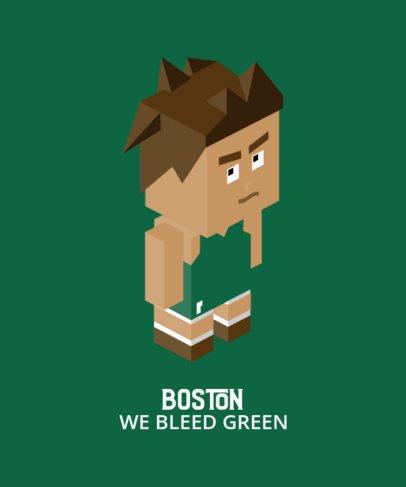 Sports T-Shirt Design Maker Featuring a Mad Basketball Player 198d-el1