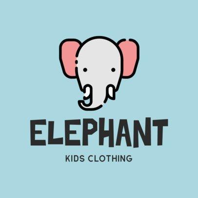 Kid's Apparel Logo Maker Featuring a Cute Elephant 305a-el1