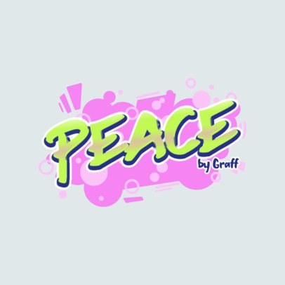 Graffiti Logo Maker Featuring Bubbly Graphics 2804g