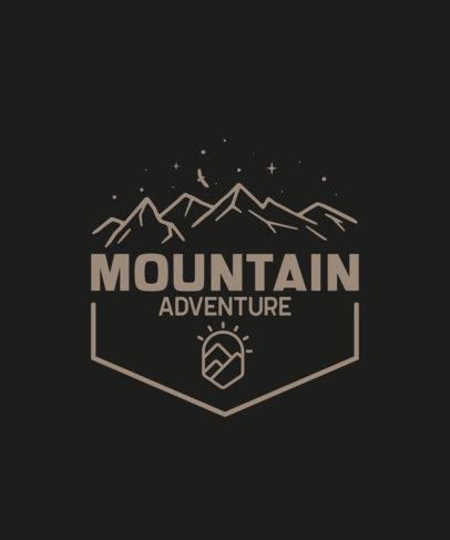 Adventurous T-Shirt Design Template with a Mountain Illustration 201-el1