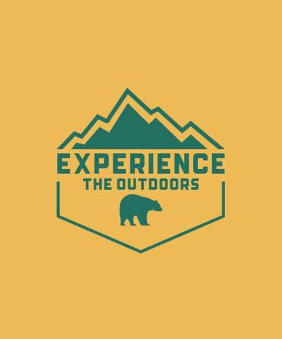 Hiker T-Shirt Design Maker with a Bear Icon 201b-el1
