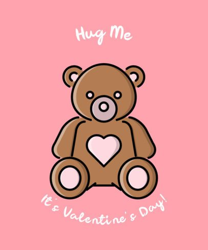 Valentine's Day T-Shirt Design Maker Featuring a Teddy Bear Icon 491b-el1