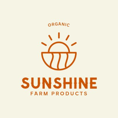 Logo Template for a Farm Products Company 414c-el1