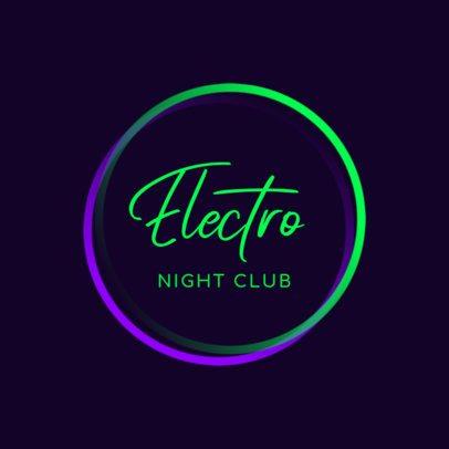 Nightclub Logo Generator With a Simple Neon Style 1683g 2837