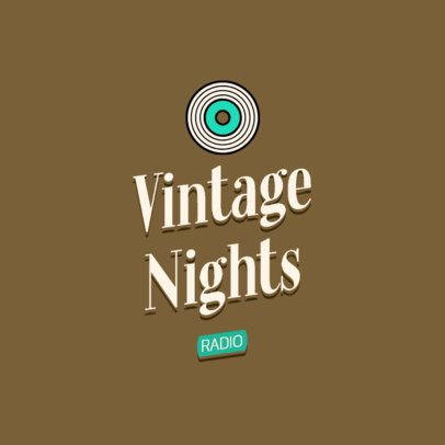 Vintage Logo Generator with a Vinyl Clipart 2627l-2836