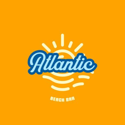Beach Club Logo Maker with a Surfer Vibe 1759f-2838