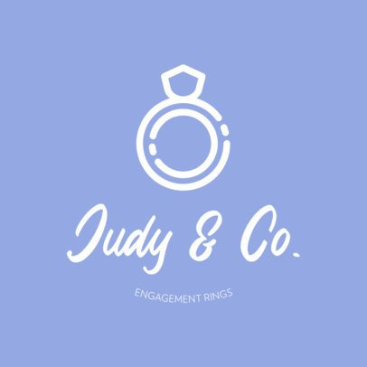 Logo Maker for a Wedding Planer Featuring a Ring Icon 440a-el1