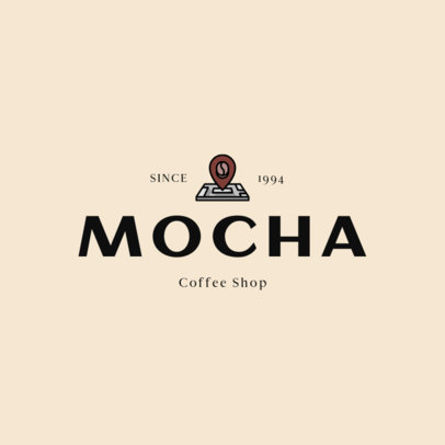 Logo Template for a Coffee Shop with Coffee Graphics 501-el1