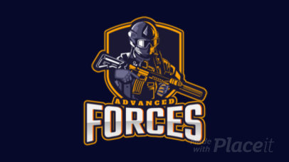 Animated Gaming Logo Creator for a Special Forces Themed Game 2449w