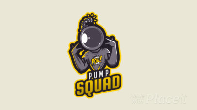 Fortnite-Inspired Gaming Logo Template with an Animated Cool Diver Character 2398d 2407