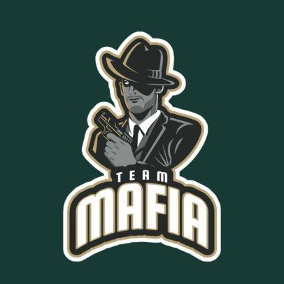 Gaming Logo Generator Featuring a Mafia Gangster Clipart 29o-2858