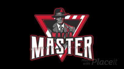 Animated eSports Team Logo Maker Featuring an Elegant Classic Gangster 1750v