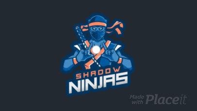 Cool Animated Gaming Logo Maker Featuring a Dark Ninja Character 1747h