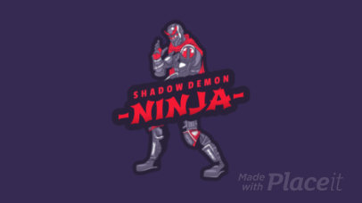 Animated Battle Royale Game Logo Maker with a Futuristic Ninja Clipart Inspired on PUBG 1847c