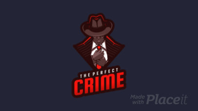 Animated Logo Template of a Mafia Member Illustration 1747o-2286