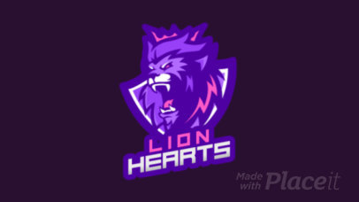 Animated Logo Template of a Fierce Lion 1747s-2332