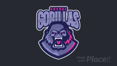 Animated Logo Maker Featuring a Ferocious Gorilla 120h-2332