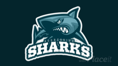 Animated Sports Logo Maker with Bull Shark Art 21b