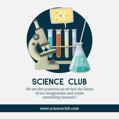 Back to School Facebook Post Template for a Science Club 211b-el1