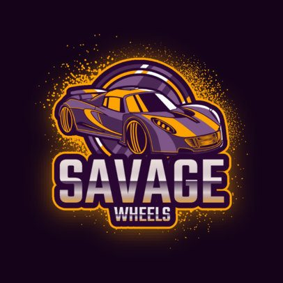 Online Logo Creator Based on Rocket League Featuring a Powerful Car Graphic 2851b