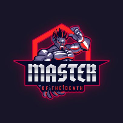 Fighting Game Team Logo Maker with an Evil Character 2718j-2862