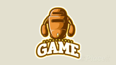 Animated Gaming Logo Maker with a Robotic Character 523i-2862