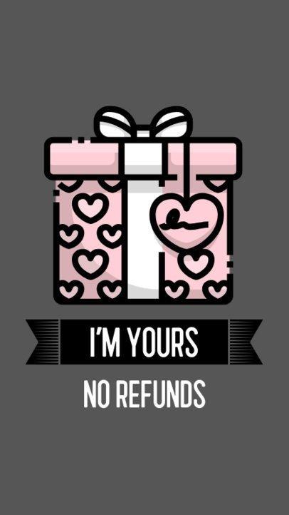 Funny Instagram Story Maker with a Valentine's Day Present Illustration 555c-el1