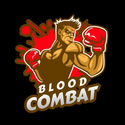 Logo Generator for Combat Games Featuring a Fighter Illustration 1847p-2857