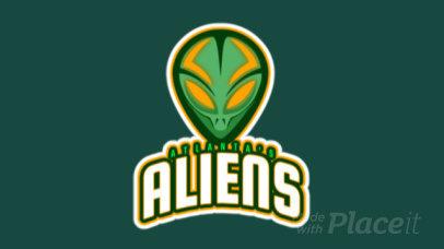 Animated Team Logo Generator Featuring an Alien 523j-2861