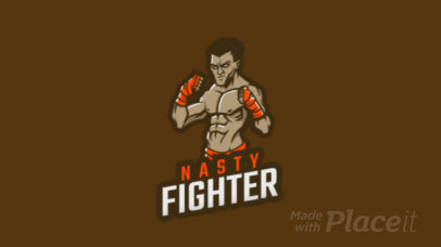 Animated Logo Template with an Illustrated Box Fighter 1747y-2861