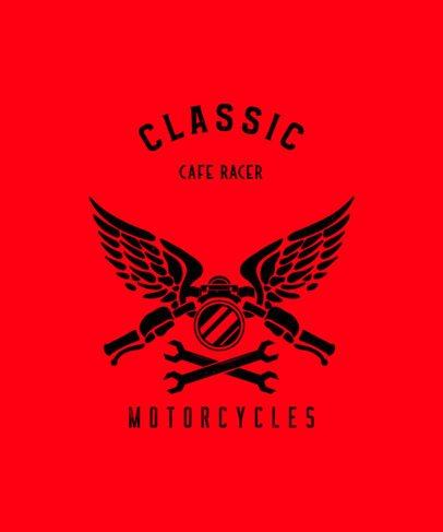 Biker T-Shirt Design Template for Motorcycle Enthusiasts 2134d