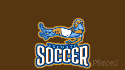 Animated Soccer Logo Template Featuring a Male Football Player 1748f-2861