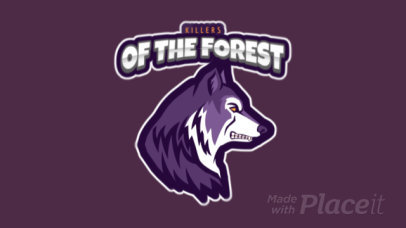 Animated Sports Logo Generator with a Regal Wolf Mascot 120m-2862