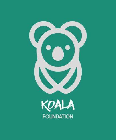 Animal T-Shirt Design Maker with a Friendly Koala Graphic 558c-el1