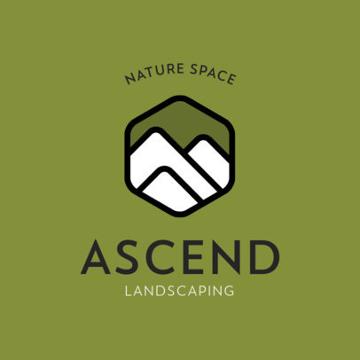 Logo Template for a Landscaping Company with Nature Icons 557-el1