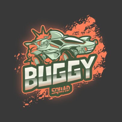 Online Logo Creator in the Style of Rocket League Featuring a Shark-Shaped Vehicle 2851i